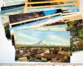 25 vintage WASHINGTON STATE postcards - unused lot - linen, white border, chrome 3 1/2 x 5 1/2