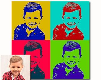 Custom portrait from photos - Andy Warhol - DIGITAL