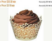 Lace cupcake liner, laser cut cupcake wrapper  108cs