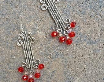 Ionic column earrings