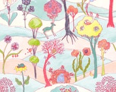 Garden Party Friends by Katy Tanis for Blend Fabrics Woodland Fabric Nursery Fabric - Whisical Fabric - Quilt Fabric -Deer Bears Raccoons