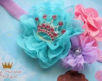 Fit for A Princess - Headband, Baby Headband, Photography Prop, Couture Headband, Hair Clip, Princess Headband, Spring Headband, OTT