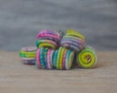 Small Handmade Fabric Textile Beads for Artisan Jewelry Designs - Art Beads - Beading supplies - Jewelry beads - Bead store - beads