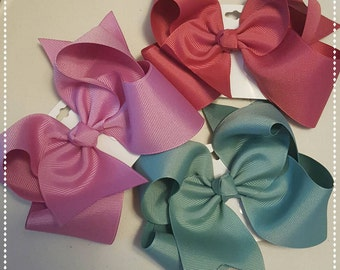 Large hair bows- made to match Matilda Jane-hair bows for girls-Once upon a time-little girl hair bows-6 inch hair bows-hair clip----