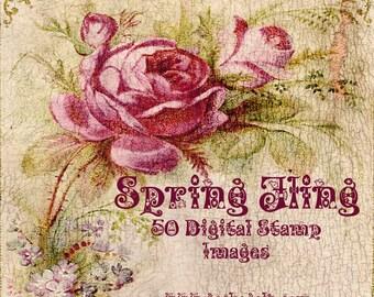 Spring fling Digital Stamp Set