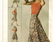 """A Front Wrap, Tie Ends Circle Skirt Pattern for Women: Uncut - Size Small (10-12), Waist 25"""" to 26-1/2"""" • Simplicity 7876"""