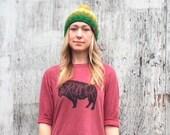 Wild Roamer Unisex slub baseball t-shirt
