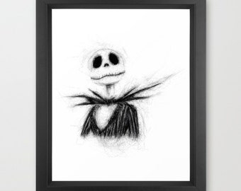 Jack INSTANT DOWNLOAD - The Nightmare Before Christmas, Pumpkin king, holiday, Halloween, Christmas, digital, downloadable, Disney