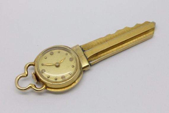 ANTIQUE... 14k Gold Blancpain Key Watch Manual Wind 17 Jewel Swiss Rayville - NEAT