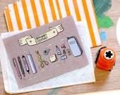 Postcard - Pencil Case Essentials (Penpal - Snail Mail Love - Stationery - Illustration - Hand Drawn)