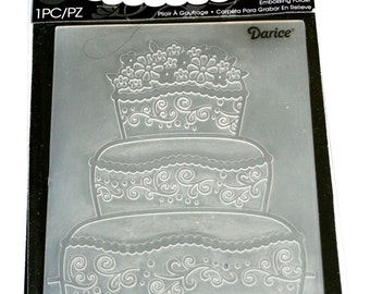 Wedding Cake Embossing Folder from Darcie Inc