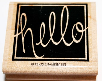Hello script Rubber Stamp from Stampin Up