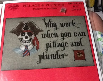 "Cross Stitch Kit!! ""Pillage & Plunder""!! New and Unopened!!"
