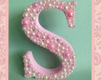 12.5 cm Decorated freestanding wooden letter Baby Shower, Christening, Birth or Birthday