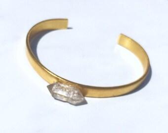 Clear Quartz cooper bracelet