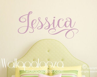 Girls Name Wall Decal - Personalized Wall Decals - Baby Girl Nursery Wall Decal - Wall decal