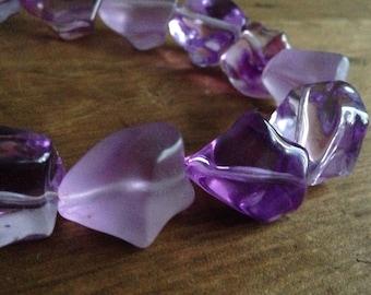 Purple lila necklace