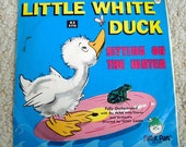 Children's 45 RPM from 60s, Little White Duck Sitting on the Water, Vintage Vinyl Record