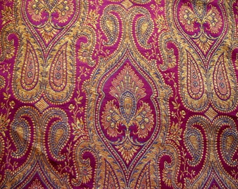 Baroque Pattern Indian Benarsi Silk Brocade KimKhab Fabric