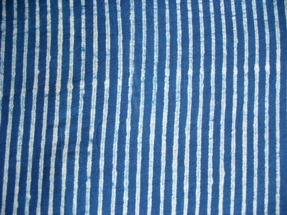 Cotton Stripes Fabric Indigo Fabric Natural Dye Mud Cloth