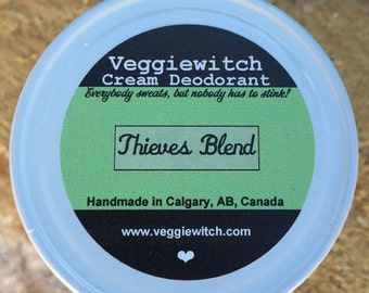 Thieves Blend - Veggiewitch Cream Deodorant - All Natural - Vegan & Organic