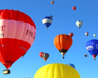 Bristol International Balloon Fiesta, Hot Air Balloons, Colour, Sky, Bristol, Balloons, Fine Art Photograph, England, UK, Colourful, Photo
