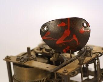 steampunk leather eye patch ,blood