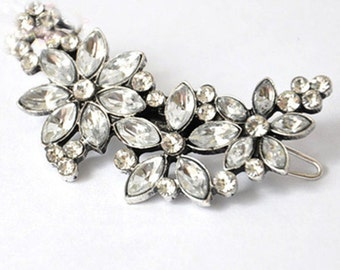 Daisy - Bohemian Crystal ( not only) wedding hair side, clip. Delicate, sweet jewerly hair