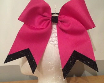 Solid Color HAIR BOW with GLITTER!