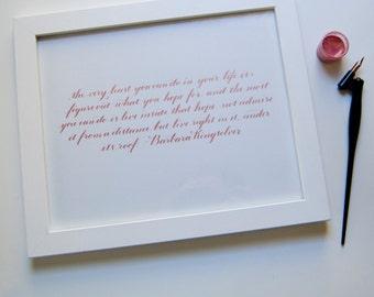 Hope calligraphy quote, 8x10