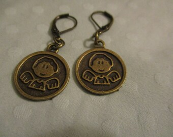 Supernatural inspired Cute Castiel earrings