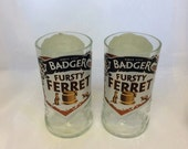 Badger Fursty Ferret Beer Glasses (Recycled Bottles) Set of 2