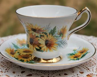 WINDSOR Bone China Teacup and Saucer Set