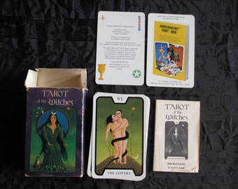 Vintage Tarot Of The Witches Cards as featured in 007 Live and Let Die Film 1974