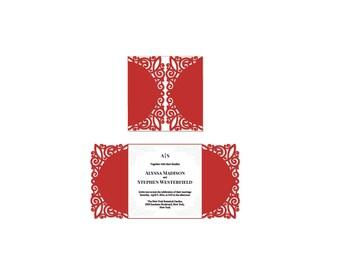 BORDO laser cut invitation template .svg .pdf digital files