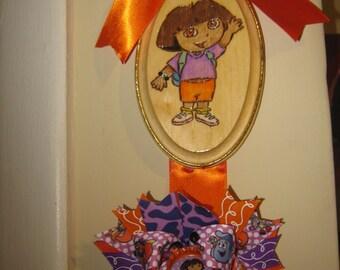 Dora the Explorer Inspired Bow Holder and Bow