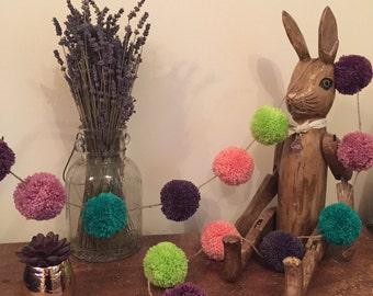 Beautiful wool pom pom garland