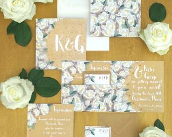 POCKET INVITATION SUITE - White Rose
