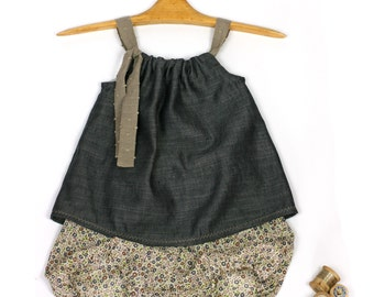Top & bloomer for girls Liberty and Linen