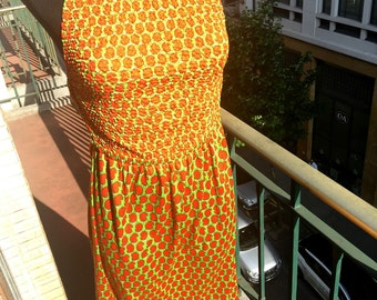 Lazy summers - 70s backless maxi dress