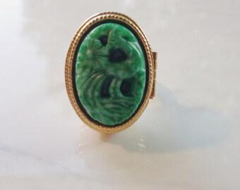 Vintage Locket Ring Avon Jewelry Perfume Locket Poison Ring Aromatherapy Essential Oil Locket Boho Jewelry Bohemian  Solid Perfume Locket