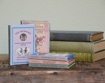Boxed set of 4 tiny Brownies books kid's books children's books children's room decor mini box set birthday gift  babyshower gift