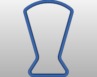 "Beer Glass Cookie Cutter 4.5"" tall"