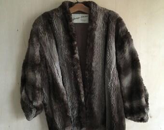 50's Sheared Beaver Fur Coat
