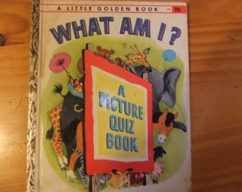 VINTAGE Little Golden Book What Am I?
