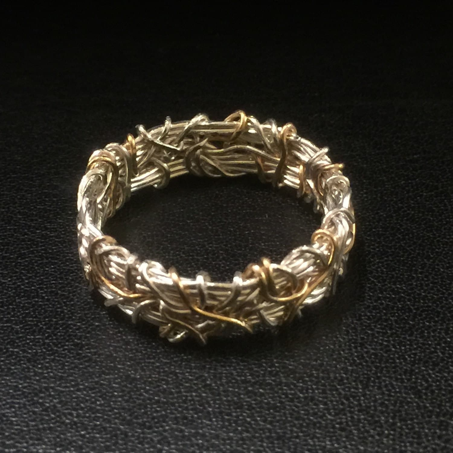 crown of thorns 14k wedding band coiled wedding band gold