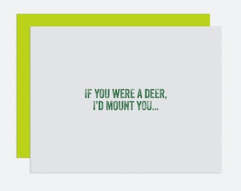 If You Were A Deer - I Like You Card