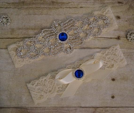 Royal Blue Wedding Garter Wedding Garter Set By
