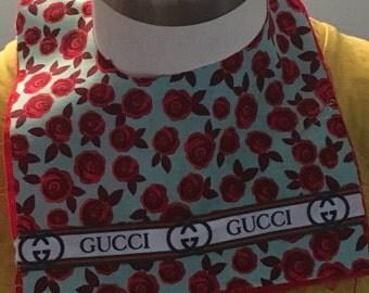 Handmade /Reversible Gucci inspired /Baby Girl  Bib