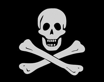 Skull and Crossbones Pirate Flag Jolly Roger Embroidery Design